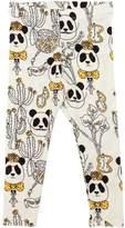 Mini Rodini Panda Printed Jersey Leggings