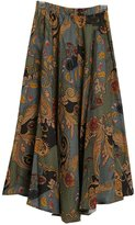 Astage Women`s Bohemia Skirt Clouds Peony Floral-Print Maxi Skirt