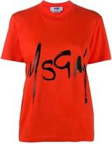 MSGM spray logo-print cotton T-shirt