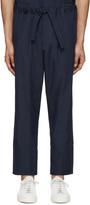 Umit Benan Navy Cotton Comfort Trousers