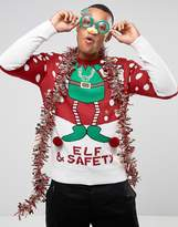 Brave Soul Holidays Elf And Safety Sweater