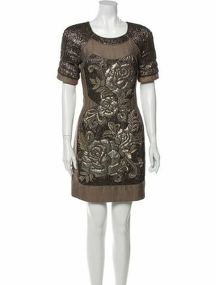 Matthew Williamson Printed Mini Dress