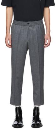 Ami Alexandre Mattiussi Grey Elasticated Waist Cropped Trousers