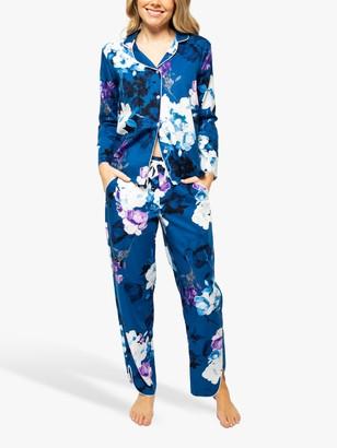 Cyberjammies Eliza Floral Print Pyjama Set, Blue/Multi