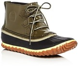 Sorel Out N About Waterproof Patent Leather Lace Up Duck Booties