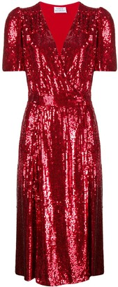 P.A.R.O.S.H. sequin-embellished V-neck dress