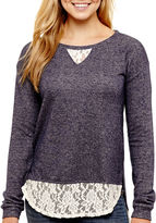 Arizona Long-Sleeve Lace Sweatshirt