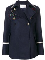 Valentino Women's Blue Wool Coat.