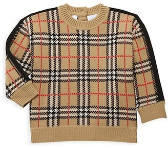 Burberry Baby's & Little Kid's Checkered Merino Wool Sweater