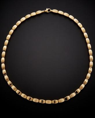 Italian Gold 14K Satin Finish & Shiny Necklace