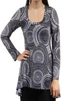 24/7 Comfort Apparel Black & White Printed Tunic
