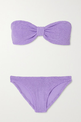 Hunza G Jean Seersucker Bandeau Bikini