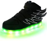 CICI LED Light Up Shoes USB Flashing Sneakers For Kids Boys Girls