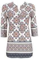 Wallis Petite Multi Coloured Mosaic Print Shirt