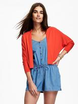 Old Navy Cropped Open-Front Dolman-Sleeve Cardi for Women