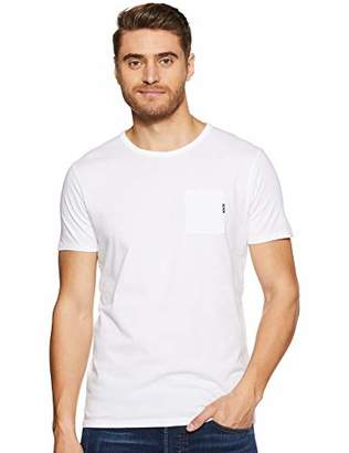 Scotch & Soda Men's AMS Blauw 1 Pocket Tee in Colours with XXX Embro T-Shirt,Medium