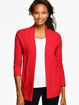 Talbots Textured Terry Cardigan