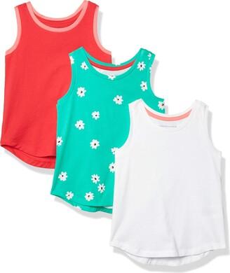 Amazon Essentials Girls' 3-Pack Tank Top Down Vest