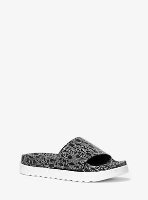 Michael Kors Tyra Graphic Logo Slide Sandal