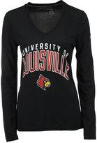 adidas Women's Long-Sleeve Louisville Cardinals Sunlight Camo T-Shirt