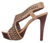 Diane von Furstenberg Laser-Cut Platform Sandals