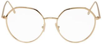 Victoria Beckham Gold Geometric Glasses