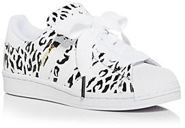 adidas Women's Superstar Leopard Print Low Top Sneakers