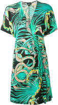 Just Cavalli snake print wrap dress