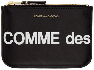 Comme des Garcons Wallets Wallets Black Huge Logo Pouch