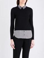 Claudie Pierlot Marylou cotton-blend jumper