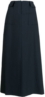 Gucci Pre-Owned Pinstriped Maxi Skirt