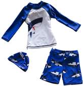 Zhhmeiruian Cute Kids Boys Swimsuit Fashion Three Piece Swimming Swimwear 9015