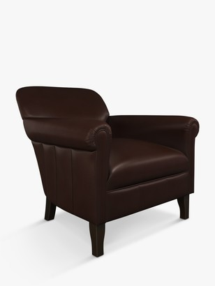 John Lewis & Partners Camford II Leather Armchair, Dark Leg