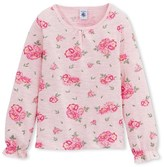Petit Bateau Girls T-shirt in printed slub jersey