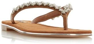 Dune London Newbey Diamante Toepost Sandals
