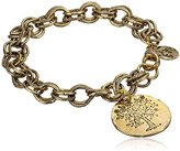 """Alisa Michelle Nature"""" 14K Gold Plated Tree of Life Charm Bracelet"""