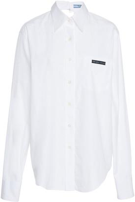 Prada Cutout Cotton-Poplin Shirt
