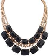 Winter.Z Square Multi-storey European and American fashion retro false collar necklace