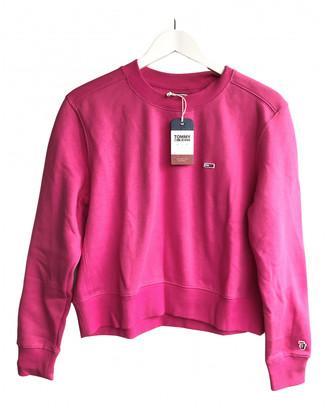 Tommy Jeans Pink Cotton Knitwear
