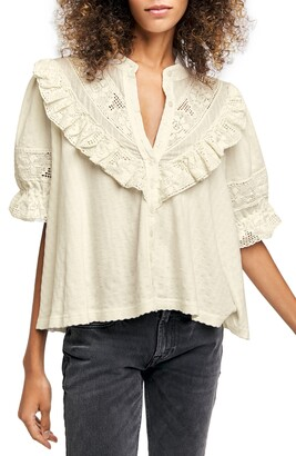 Free People Walk in the Park Button-Up Top