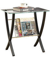 Monarch Tempered Glass Bentwood Accent Table