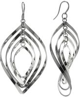 JLO by Jennifer Lopez Jet Twist Drop Earrings