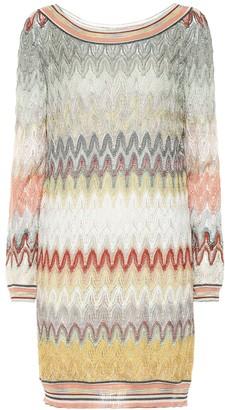Missoni Striped stretch-silk minidress