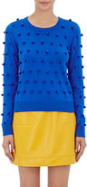 Lisa Perry WOMEN'S POM-POM SWEATER-BLUE SIZE XS