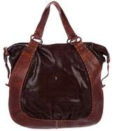 Henry Beguelin Embossed Leather Trim Tote