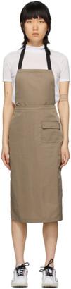 Stussy Taupe Nylon Convertible Apron Dress