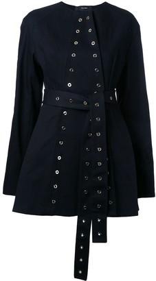 Ellery eyelet detail belted jacket