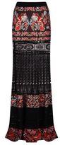 Roberto Cavalli Panelled Knit Maxi Skirt