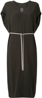 Rick Owens Drawstring-Waist Dress