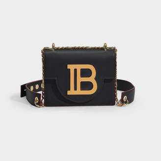 Balmain B-Bag 18 In Black Calfskin